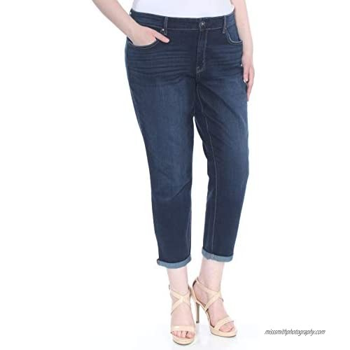 Jessica Simpson Women's Forever Roll Cuff Skinny Crop to Ankle Jean