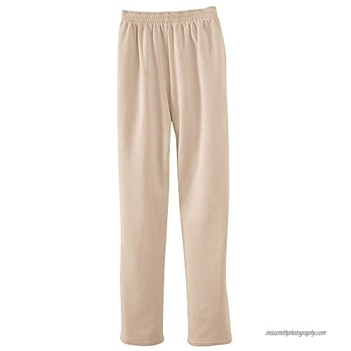 National Women's Fleece Elastic Waist Pants  Cotton-Polyester Fabric  Multi-Stitched for Durability