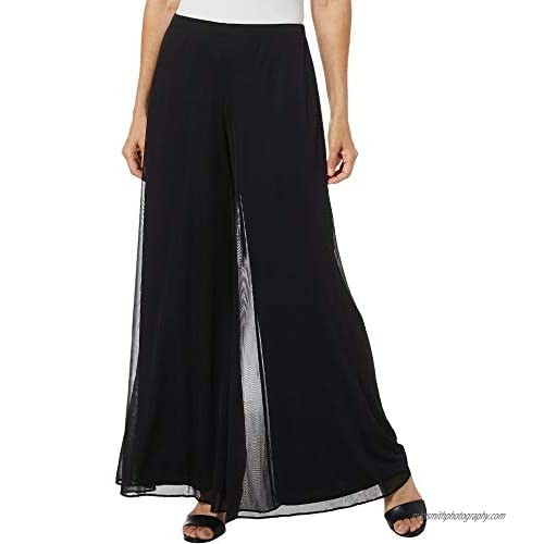 MSK Women's Day to Evening Wide Leg Solid Mesh Pant