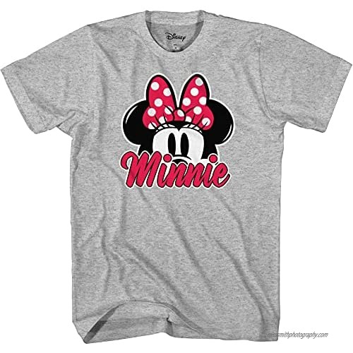 Disney Minnie Mouse Ears Unisex Adult Graphic Tee T-Shirt