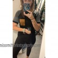 Womens Summer Basic Short Sleeve V Neck Color Block Casual Tops T Shirts with Pocket