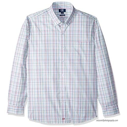 Cutter & Buck Men's Long Sleeve Anchor Multi Color Plaid Tailored Fit Button Up Shirt