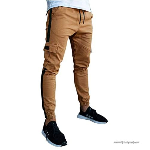 ZNU Men's Joggers Casual Slim Fit Stretch Cargo Pants with Pockets