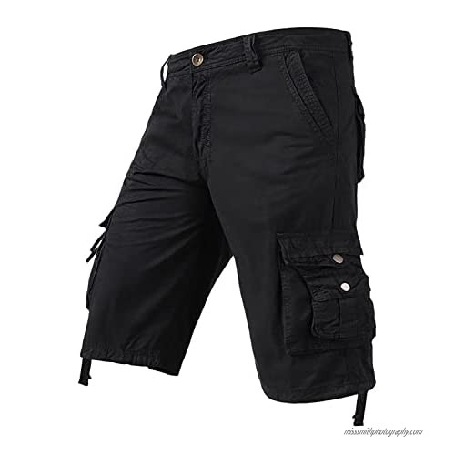 Men's Relaxed Fit Cargo Shorts Loose Fit Shorts with Multi Pockets