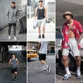 Men's Shorts Casual Drawstring Jogger Athletic Workout Gym Sweat Shorts with Pockets