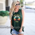 Cactus Vintage Graphic Tank Tops Retro Funny Saying Casual Tank Cant Touch This Letter Print Sleeveless Shirt