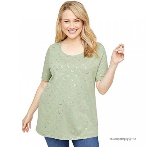 Catherines Women's Plus Size Miami Shimmer Tee