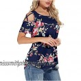 Hollow Out Tops for Women  Womens V Neck T Shirts Short Sleeve Causal Summer Lace Tee Tops