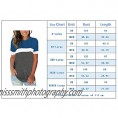 Yskkt Womens Crewneck Short Sleeve T-Shirts Plus Size Color Block Workout Tunic Tops Summer Casual Loose Tees